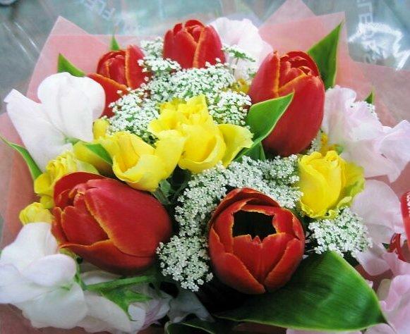 花束ってもうらうと嬉しいよね♪