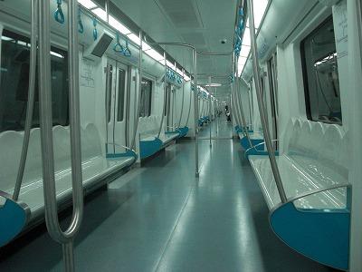 香山⑧帰りの地下鉄090127