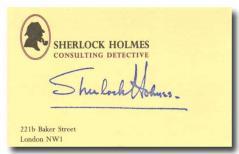 シャーロックホームズの名刺