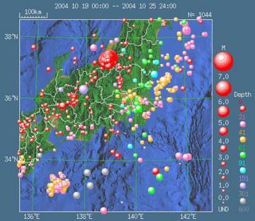 2004年地震活動