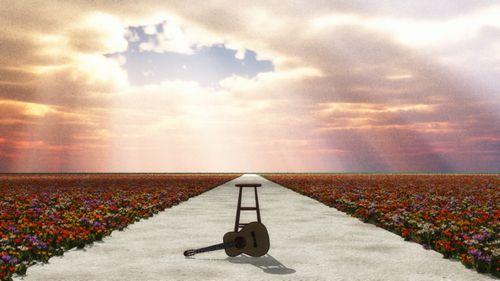 公園花+ギター