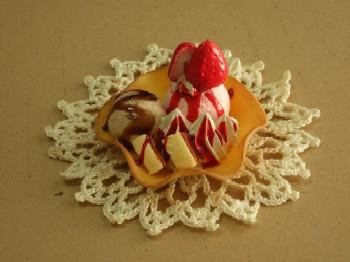 2/24 アイスストロベリーチーズケーキ スイーツデコ