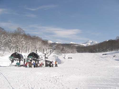 朝の玉原スキー場