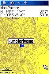 GPS画像雲取山付近