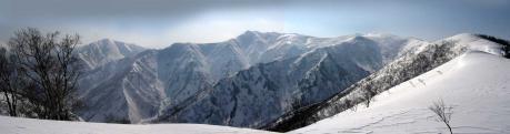 日白山から仙ノ倉山