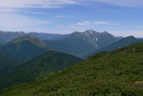 焼山と穂高