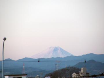 偶然見つけた富士山