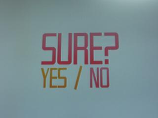Restart選択時の画面。Yesを選ぶとステージの最初へ、Noを選ぶとタイトル画面に戻ります。(だったと思います)
