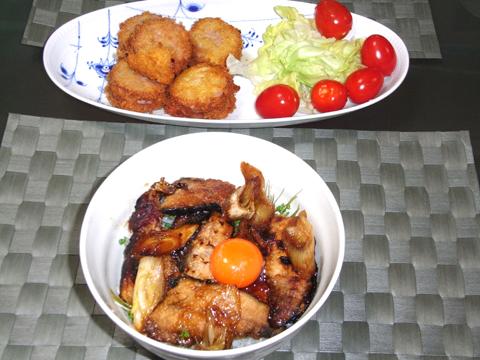 秋刀魚のかば焼く丼