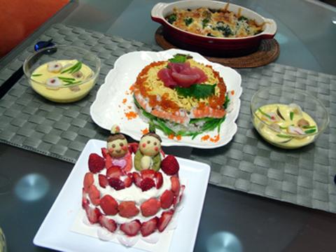 ひな祭りパーティー料理