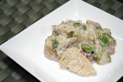 鶏肉竹の子空豆
