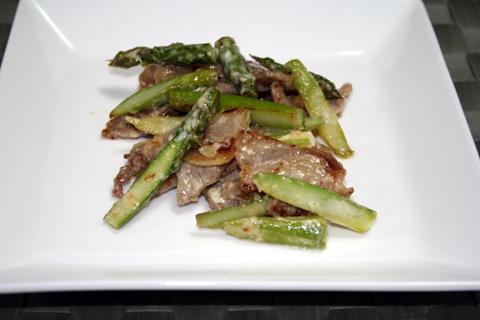 豚肉とアスパラのマヨネーズ炒め