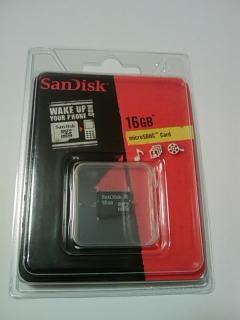 SanDisk 16GB microSDHC カード(Class 2) 海外リテール版パッケージ