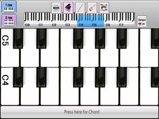 Omniano 0.9.12.0 - ピアノ画面
