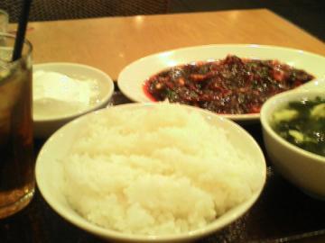麻婆豆腐定食ざます