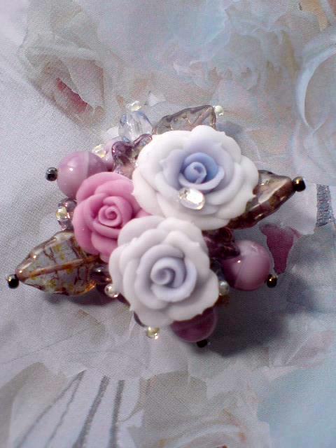 薔薇ブローチ2
