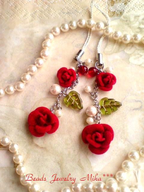 薔薇ストラップ2
