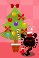 ニョロクリスマスツリーと