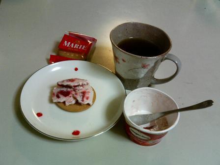 アイスクリームと紅茶
