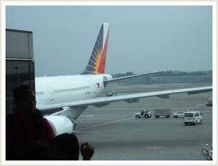 フィリピン航空 マニラ行き