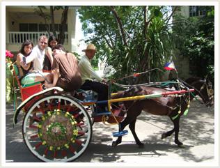 フィリピンの伝統的な馬車