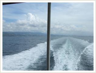 1時間半の船旅