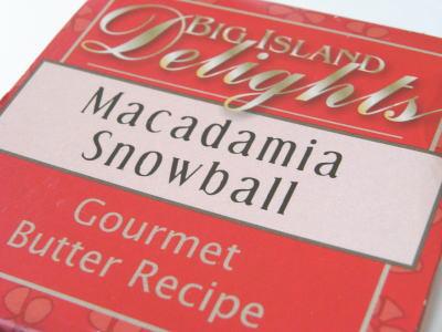 マカダミア・スノーボールクッキー