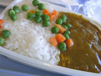 機内食のカレー
