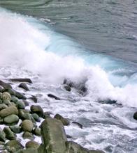 あおーい波