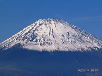 富士と青空
