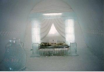 氷のベッドルーム