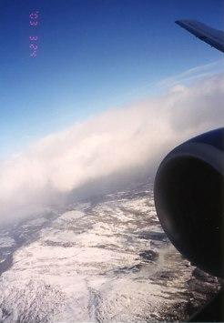 機上にて旅の終わり