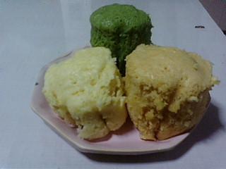 三色ケーキ
