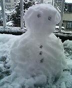 2006年1月21日雪だるま