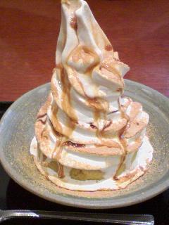 スイートポテトとソフトクリーム