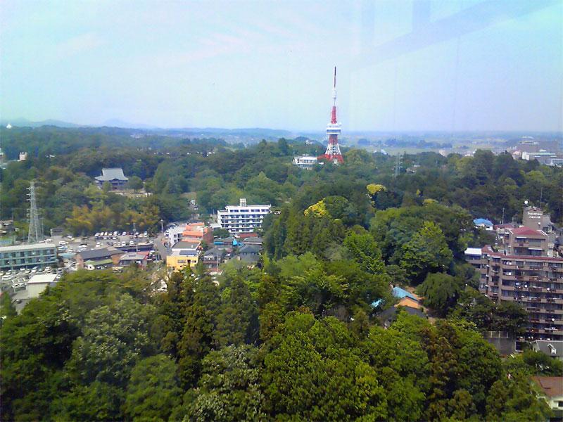 栃木県庁15階展望ロビーからの風景(2009年5月21日)