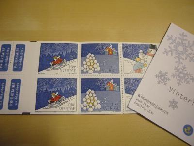切手(クリスマスカード用)