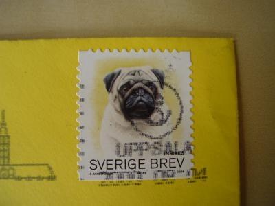 パグの切手で