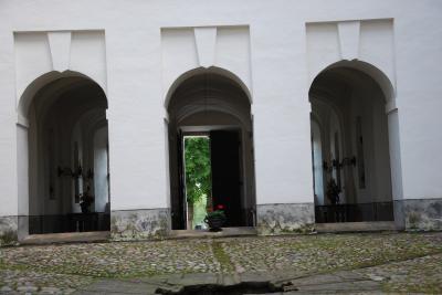 お城の中庭