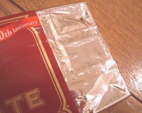 チョコにはやっぱり銀紙。