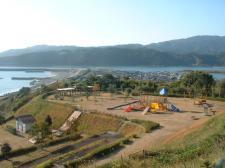 児童公園と四万十川河口