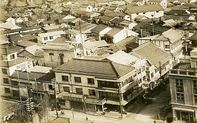 某所戦前の街並み