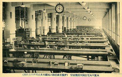 大阪中央電信局4階機械室
