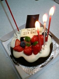 23才記念ケーキ!