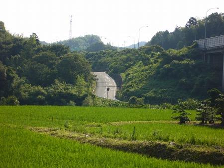 熊取町高田地区・飛ばして突っ込むと死ねるジャンプ台