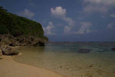 珊瑚礁の入り江