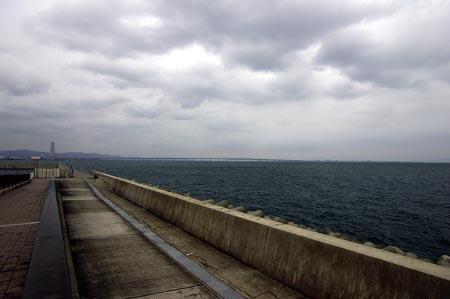 三洋電機二色浜工場付近の海浜公園