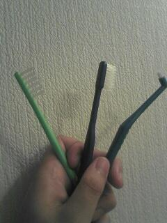 3本歯ブラシ