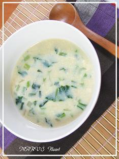 小松菜とツナの豆乳スープ