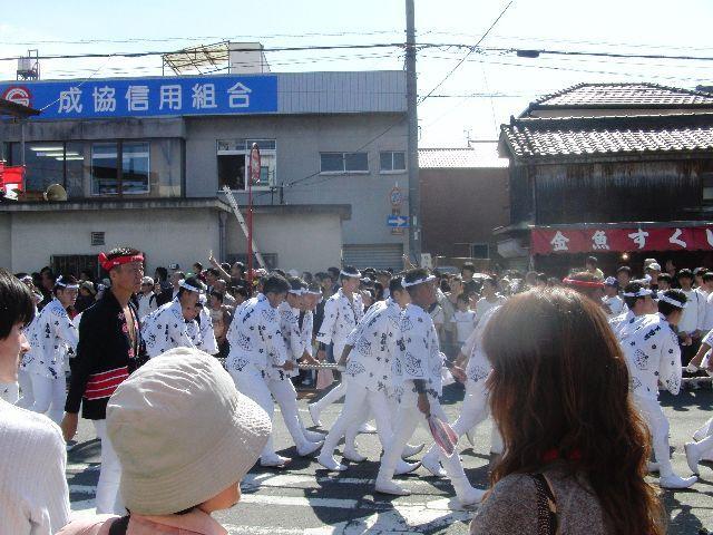 下野町のだんじりの法被が懐かしい